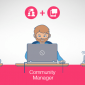 social media manager, community manager y content manager