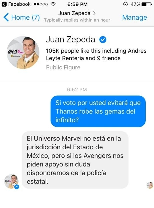 repuesta divertida del community manager de juan zepeda