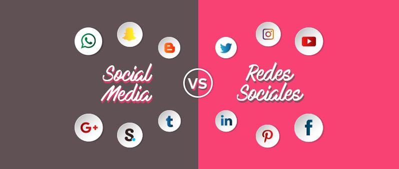 diferencias entre social media y redes sociales