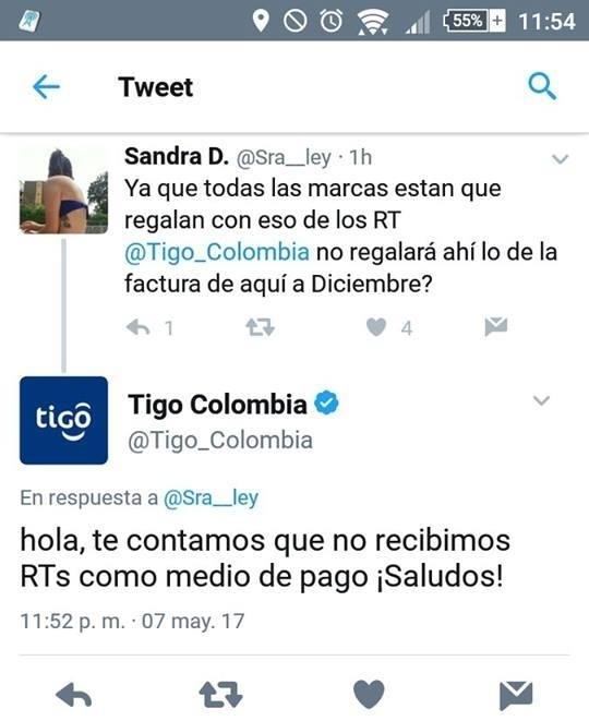 respuesta divertida del community manager de tigo colombia