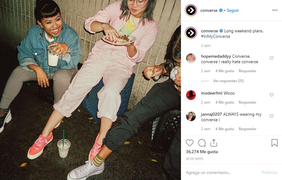 instagram de marca converse