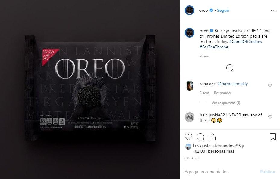 instagram de marca oreo