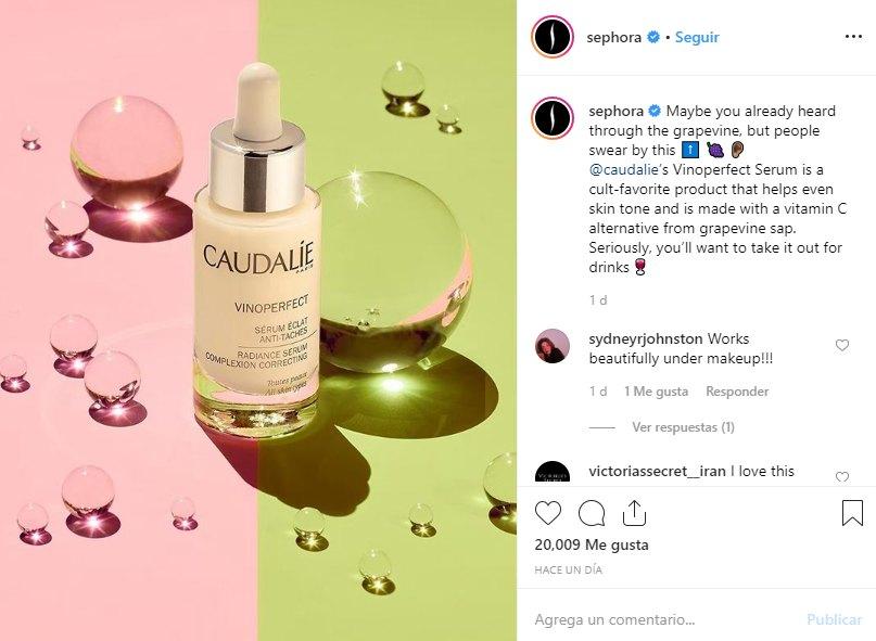 Instagram de marca Sephora