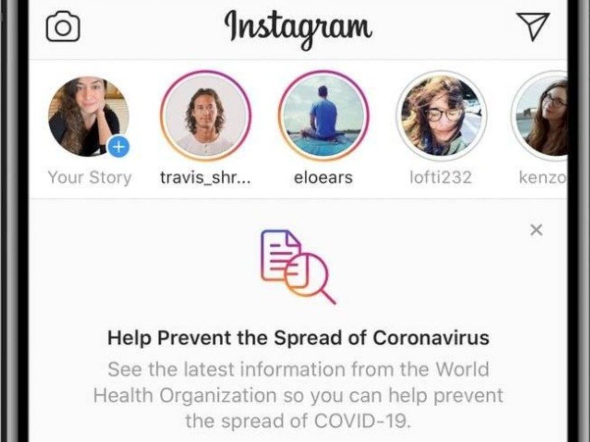 coronavirus en instagram