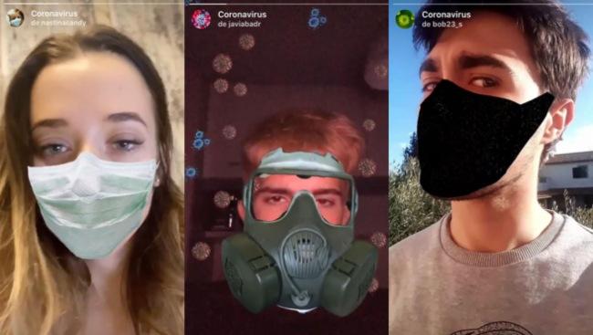 filtros del coronavirus en instagram